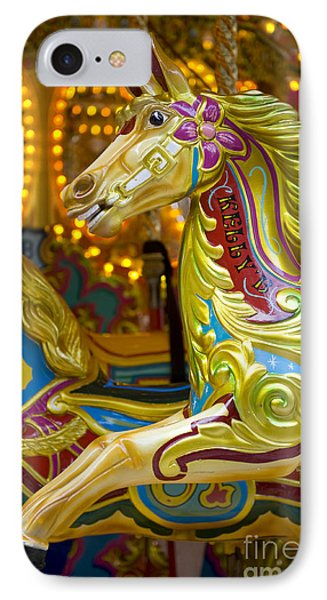 IPhone Case featuring the photograph Fairground Carousel by Lee Avison