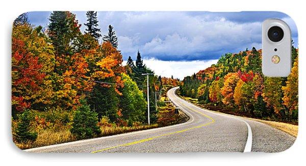Fall Highway IPhone Case by Elena Elisseeva