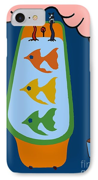 3 Fish In A Tub Phone Case by Patrick J Murphy