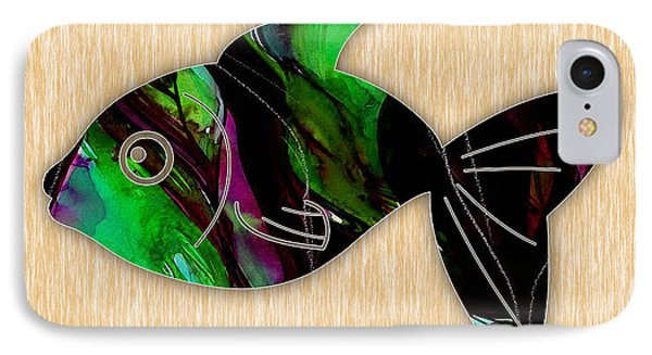 Fish Painting IPhone Case by Marvin Blaine