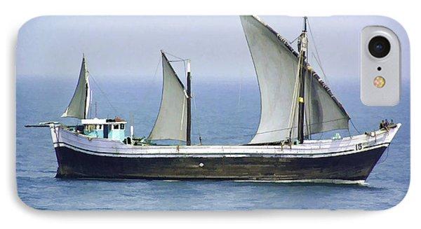 Fishing Vessel In The Arabian Sea IPhone Case