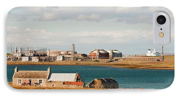 Flotta Oil Terminal IPhone Case by Ashley Cooper