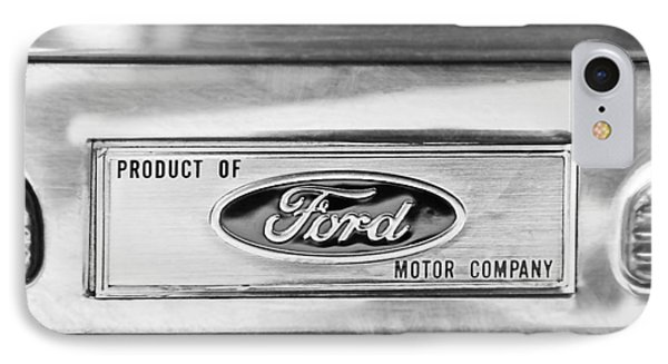Powered By Ford Emblem -0307bw Phone Case by Jill Reger