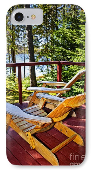 Forest Cottage Deck And Chairs IPhone Case by Elena Elisseeva