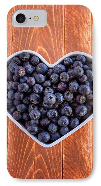 Fresh Picked Organic Blueberries IPhone 7 Case by Teri Virbickis