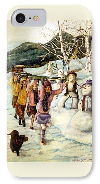 Frosty Frolic IPhone Case by Linda Simon