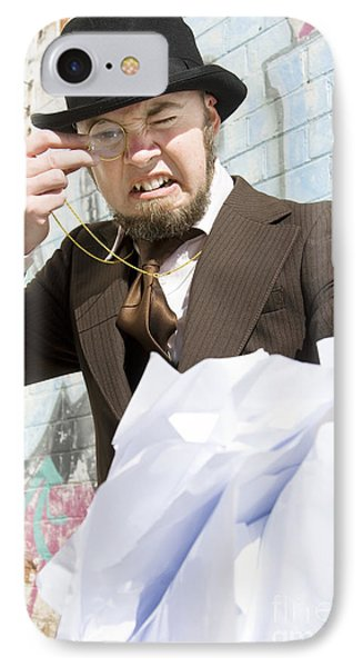 Frustrated Businessman IPhone Case