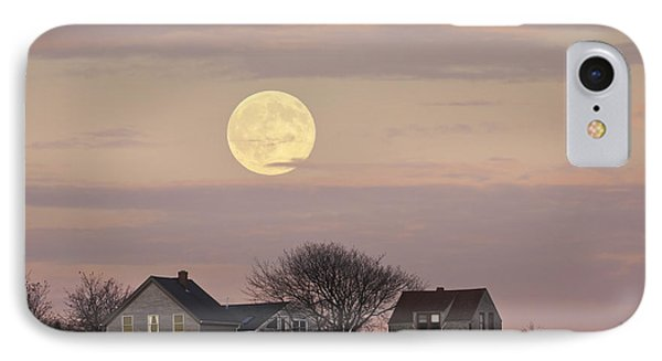 Full Moon Over Georgetown Island Maine IPhone Case by Keith Webber Jr