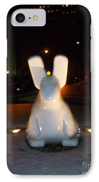 Funny Killer Bunny IPhone Case by Kelly Awad