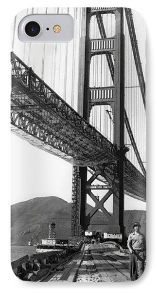 Golden Gate Bridge Work IPhone Case by Underwood Archives