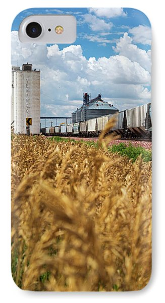 Grain Elevators And Railway IPhone Case by Jim West