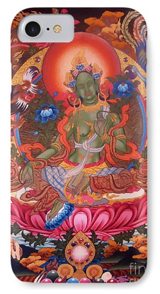 Green Tara 10 IPhone Case by Lanjee Chee