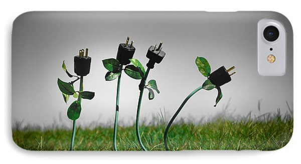 Growing Green Energy Phone Case by Amy Cicconi