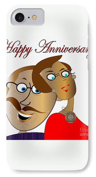 Happy Anniversary Phone Case by Iris Gelbart