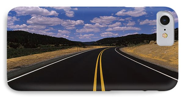 Highway Passing Through A Landscape IPhone Case by Panoramic Images