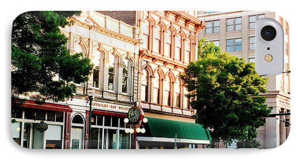 Historic Buildings Along Main Street IPhone Case by Nik Wheeler