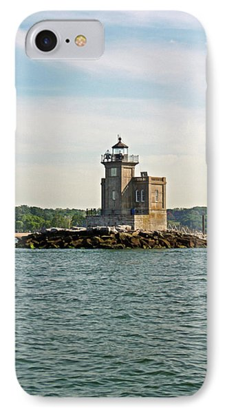 IPhone Case featuring the photograph Huntington Lighthouse by Karen Silvestri