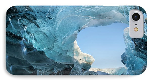 Ice Cave In The Glacier IPhone Case by Martin Zwick
