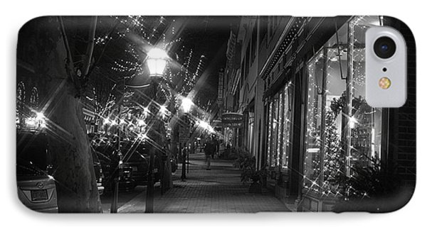 It's Christmas Time In The City IPhone Case by Living Color Photography Lorraine Lynch