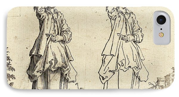 Jacques Callot French, 1592 - 1635, Peasant Woman IPhone Case by Quint Lox