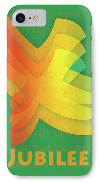 IPhone Case featuring the digital art Jubilee by Chuck Mountain