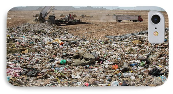 Landfill Waste Disposal Site IPhone Case by Peter Menzel