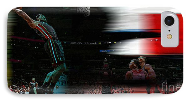 Lebron James IPhone Case by Marvin Blaine