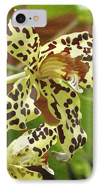Leopard Orchids IPhone Case