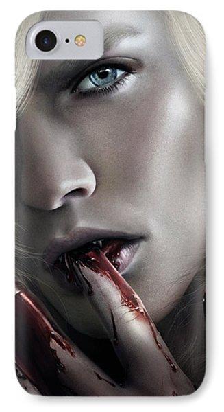 Lestat Licks Blood IPhone Case by Omri Koresh