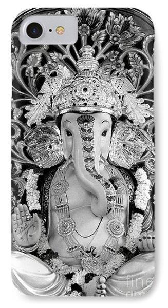 Lord Ganesha IPhone Case by Kiran Joshi