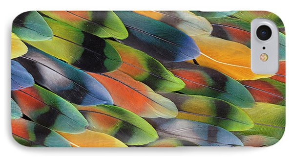 Lovebird iPhone 7 Case - Lovebird Tail Feather Pattern And Design by Darrell Gulin