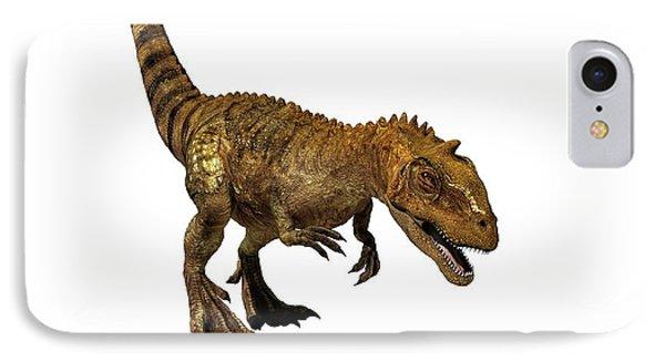 Majungasaurus Dinosaur IPhone Case by Mikkel Juul Jensen
