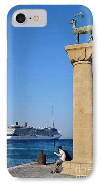 Mandraki Port IPhone Case by George Atsametakis