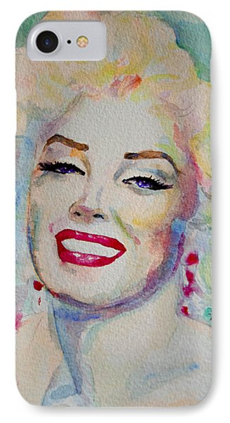 IPhone Case featuring the painting Marilyn by Laur Iduc