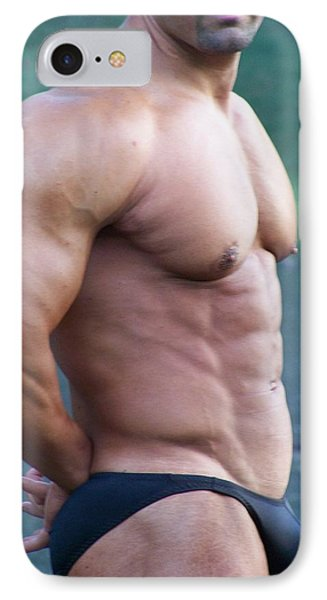 Marius Muscle Art IPhone Case by Jake Hartz