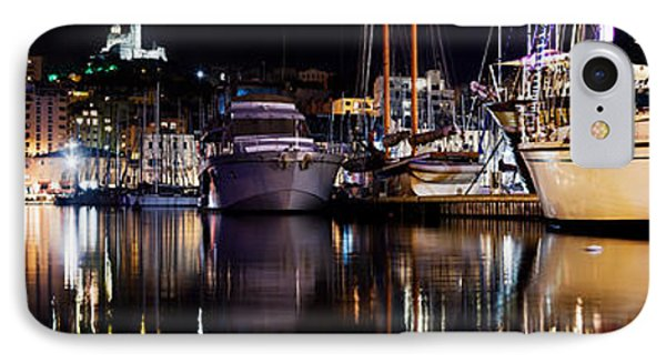 Marseille France Panorama At Night Phone Case by Michal Bednarek
