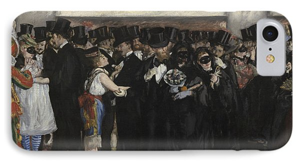 Masked Ball At The Opera IPhone Case by Edouard Manet
