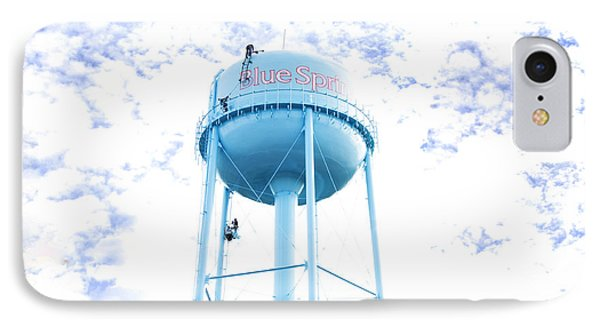 3 Men Painting The Blue Springs Water Tower Phone Case by Andee Design