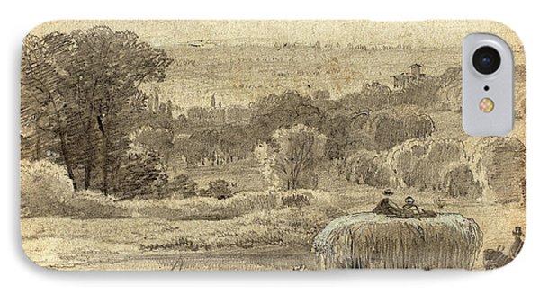 Myles Birket Foster, British 1825-1899 IPhone Case by Litz Collection