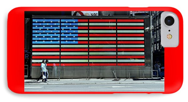 Neon American Flag Phone Case by Allen Beatty