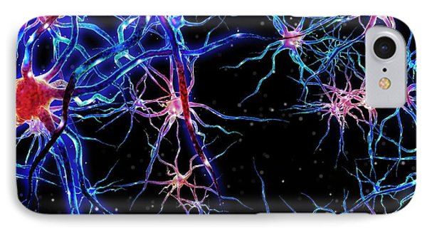 Neural Network IPhone Case by Maurizio De Angelis