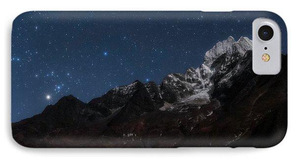 Night Sky Over The Himalayas IPhone Case by Babak Tafreshi