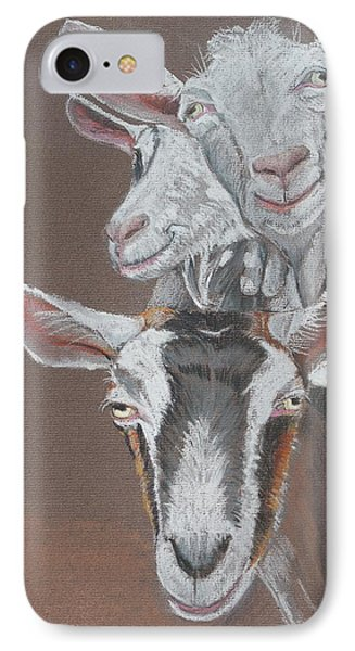 3 Nosey Goats IPhone Case