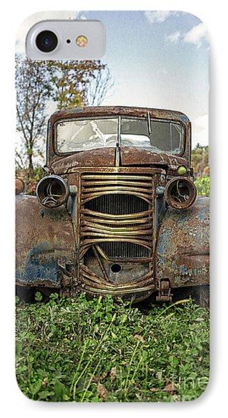 Old Junker Car IPhone Case by Edward Fielding