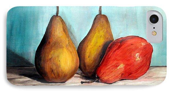 3 Pears IPhone Case by Ariel Davila