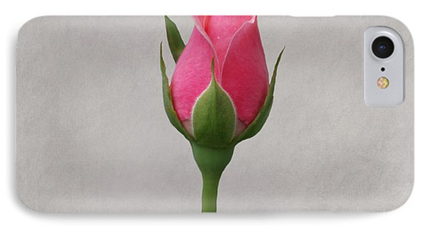 Pink Rosebud Phone Case by Sandy Keeton