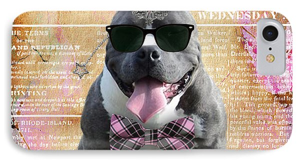 Pitbull Bowtie Collection IPhone Case by Marvin Blaine