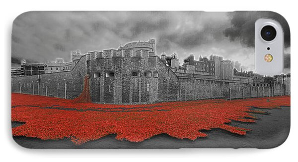 Poppies Tower Of London Collage IPhone Case by David French