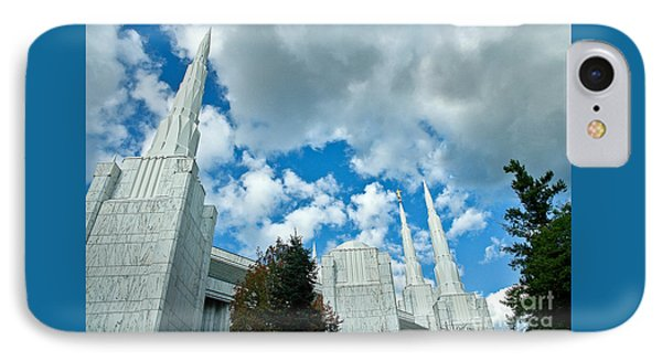 IPhone Case featuring the photograph Portland Oregon Lds Temple by Nick  Boren