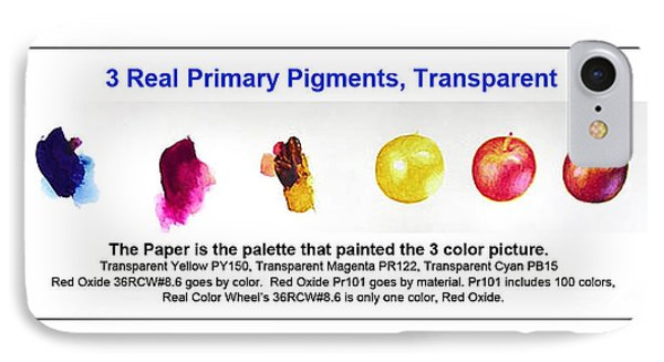 3 Primary Pigments - Apple Phone Case by Don Jusko